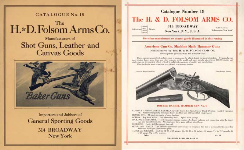 H & D Folsom 1921 Arms Company Catalogue No. 18