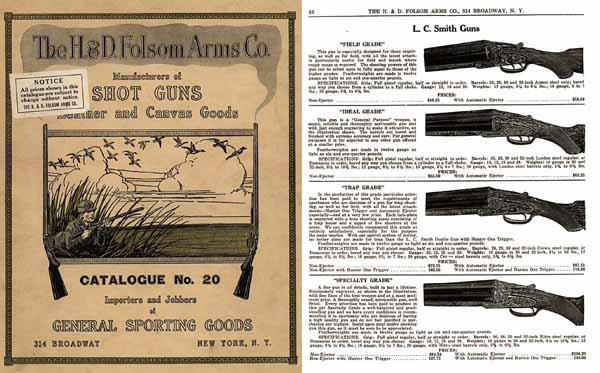 H & D Folsom 1922 Arms Company Catalogue No. 20