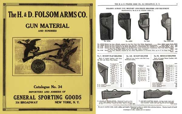 H & D Folsom 1930 Arms Company Catalogue No. 34