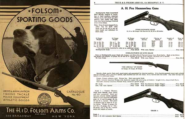 H & D Folsom 1932 Arms Company Catalogue No. 40