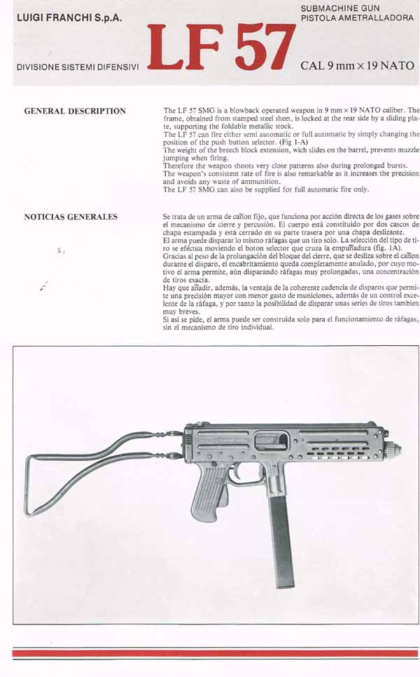 Franchi LF57 Submachine Gun (Italian) Manual-Flyer