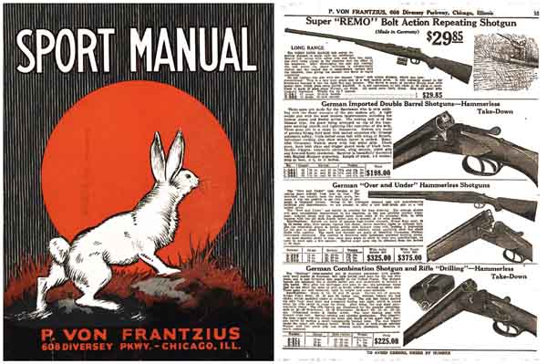 Von Frantzius, P c1928 Gun and Sport Catalog- Chicago, Ill.