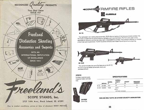 Freeland, Al c1983 Shooting Supplies, Guns and Imports, Rock Island, IL