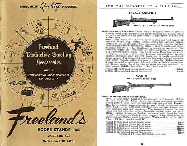 Freeland, Al 1968 Shooting Accessories Catalog