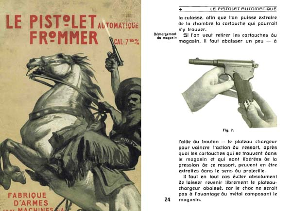 Frommer- Le Pistolet Automatique cal. 7.65 mm c1902 Budapest- Manual