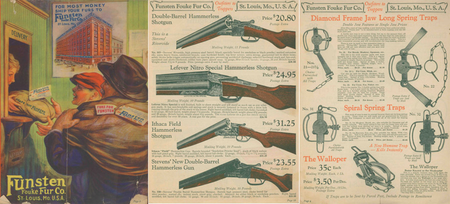 Funsten Fouke Fur Co 1927 Trapping, Guns and Access. Catalog