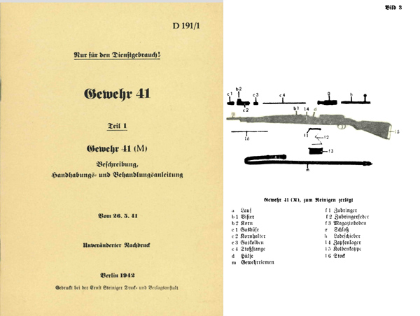Mauser G41(M) Gewehr- Automatic Rifle- Manual
