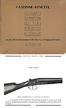 Gastinne Renette Armes 1925 Catalogue, Paris France