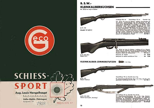 GECO 1938 Schiess-Sport (Gun and Accessory) Catalog
