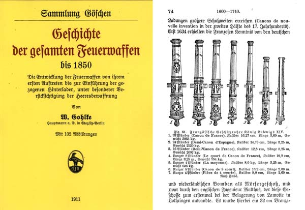 Entire History of Firearms 1911 in German