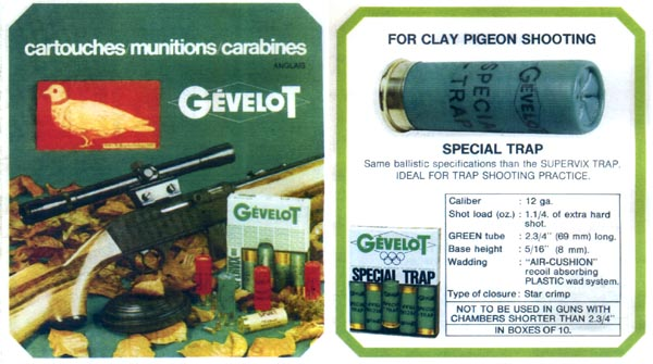 Gevelot Cartouch Munitions 1975 (Paris, Fr. in English)