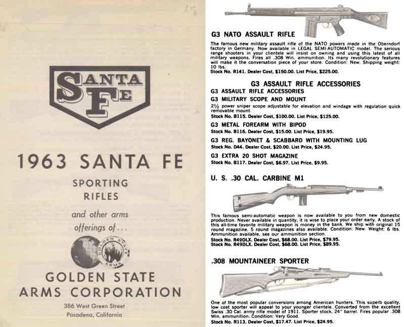 Golden State Arms Co. 1963 Sante Fe Rifles