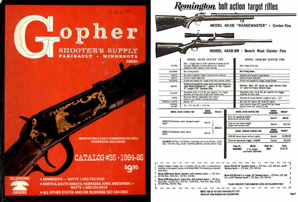 Gopher Gun Supply 1984 -85, Faribault, Minnesota
