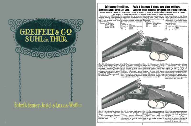 Greifelt 1924 and Company Firearms Catalog, Suhl, Germany