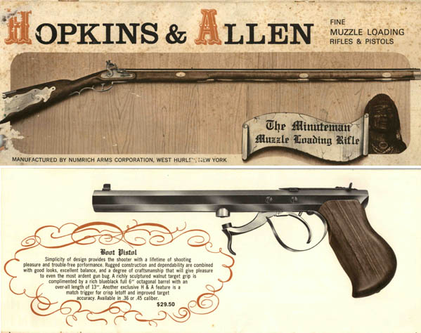 Hopkins and Allen c1975 Gun Catalog by Numrich