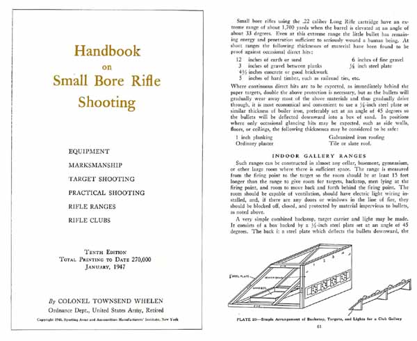 Handbook on Small Bore Rifle Shooting 1947 - Whelen