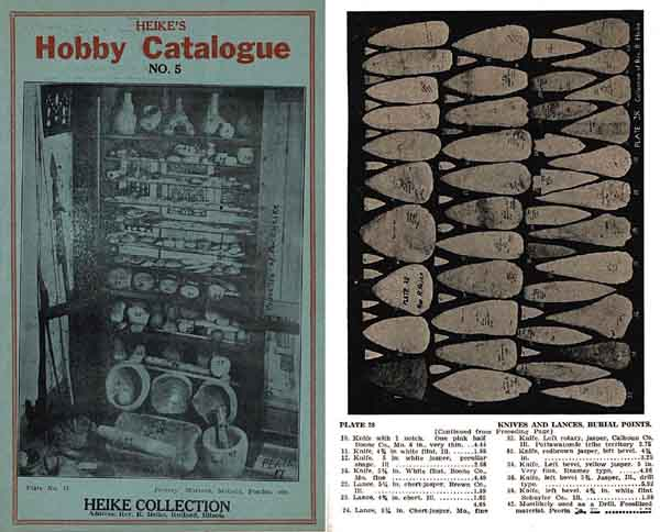 Indian Artifact Catalogue c1920 - Heike Hobby (Illinois)