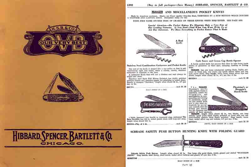Hibbard Spencer and Bartlett Co. 1933 Cutlery Catalog (Chicago)