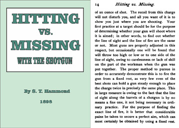 Hitting vs. Missing with the Shotgun 1898