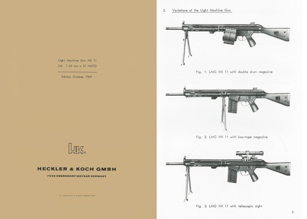 Heckler & Koch 1969 HK11 7.62mm x 51 NATO Light Machine Gun