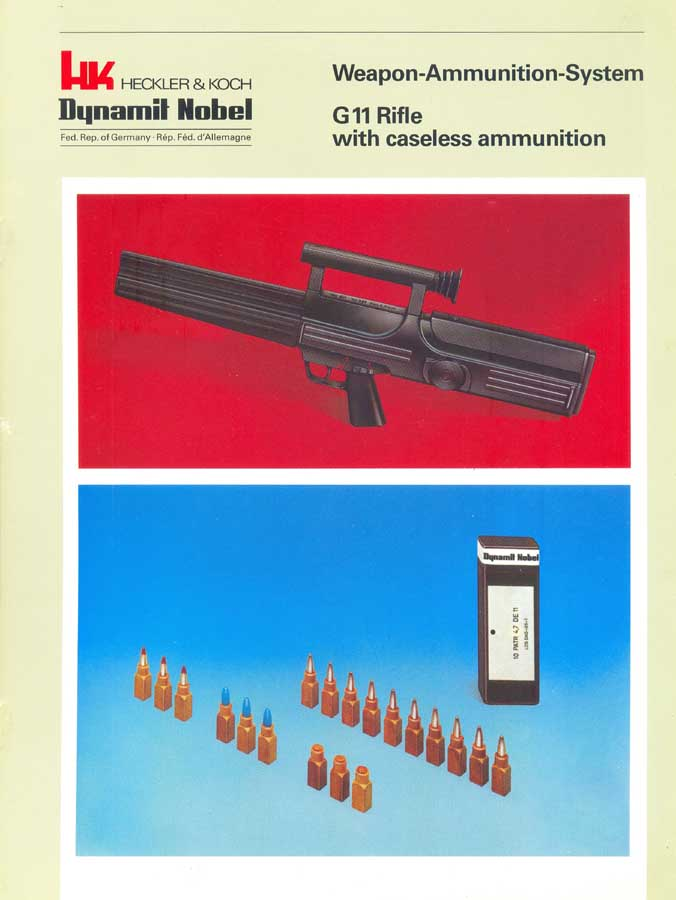 Heckler & Koch/Dynamit Nobel G11 Caseless SMG c1981