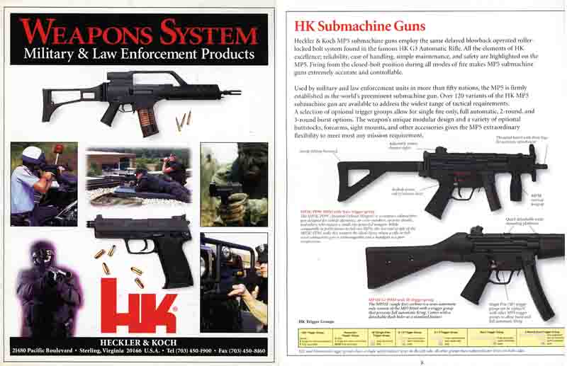 Heckler & Koch 1998 Military and Law Enforcemant Weapons