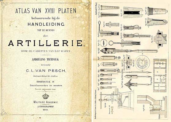 Holland - 1893 Images of Artillery Weapons for Cadets