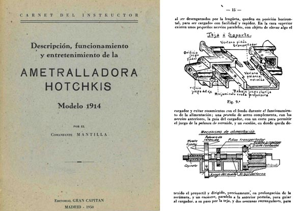 Hotchkiss 1950 Modelo 1914 Ametralladora Descripcion (Spanish)
