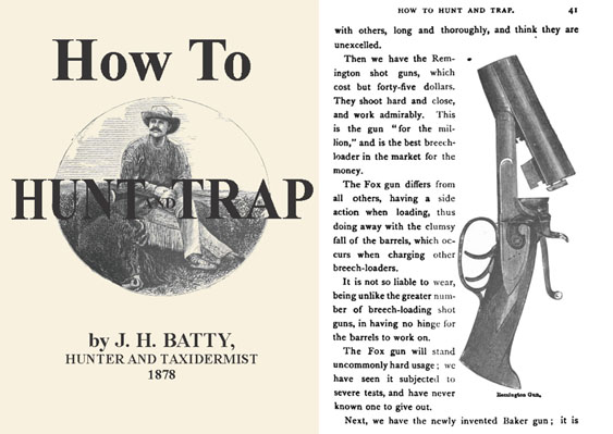 How to Hunt and Trap 1878, by JH Batty