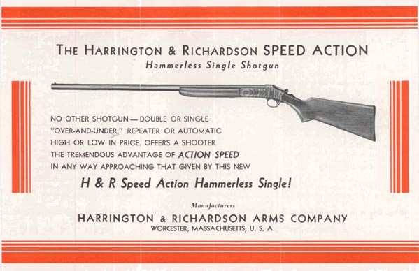 Harrington & Richardson Arms c1937 Single Shotgun Flyer
