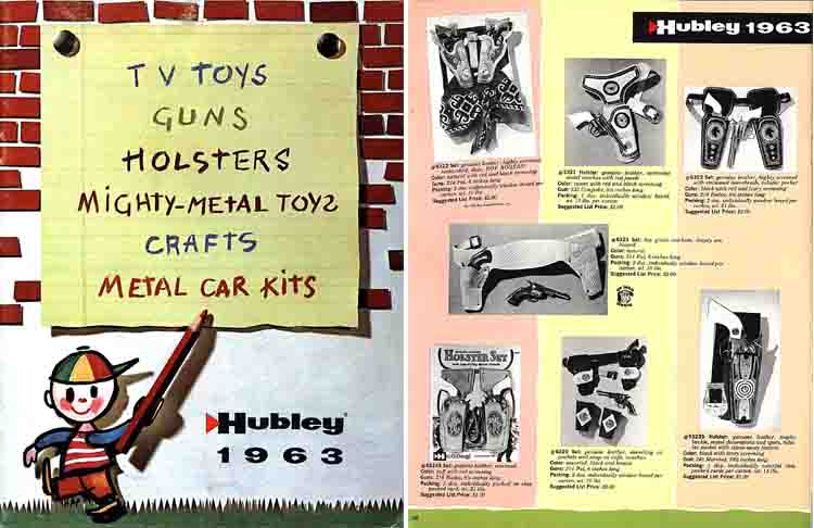 Hubley 1963 Toy and Cap Gun Catalog