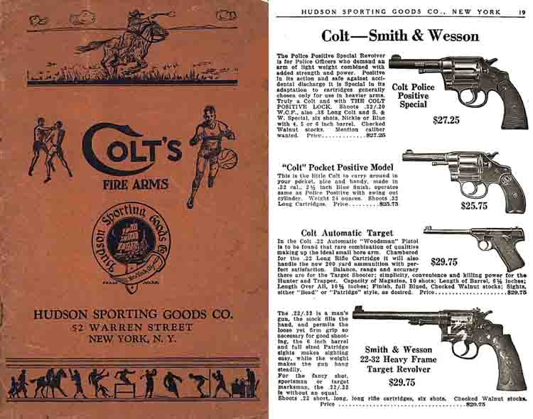 Hudson Sporting Goods c1917 Catalog