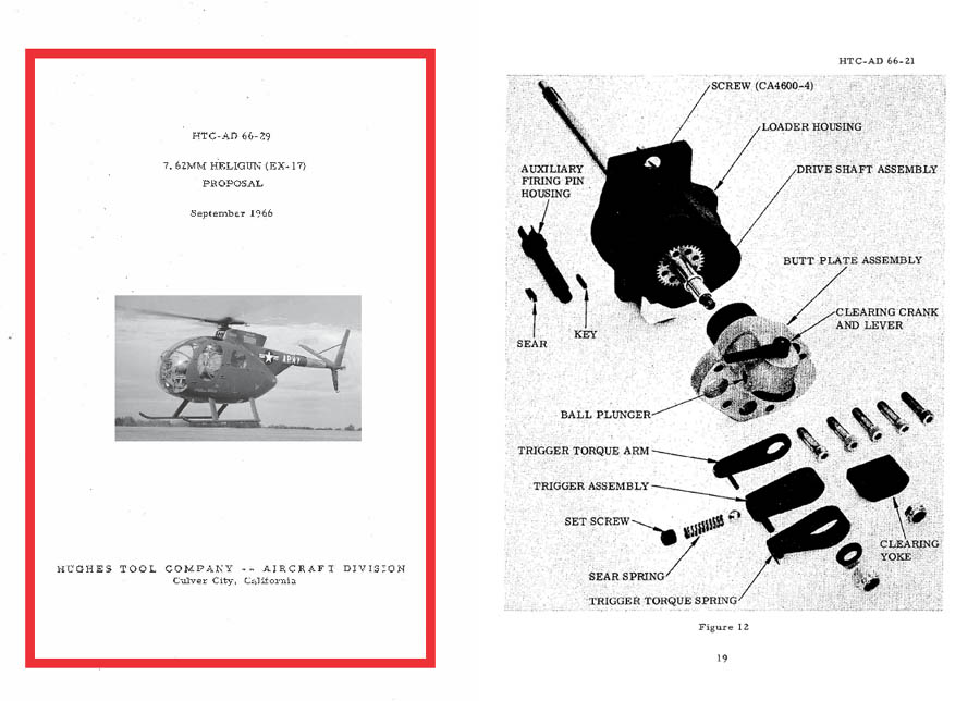 Hughes 1966 Heligun EX17 Machine Gun Proposal for US Govt.