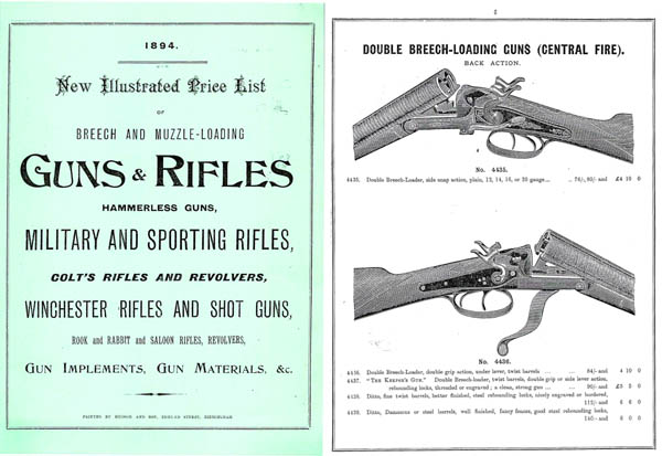 Hughes, Robert & Sons 1894 Gun Catalog