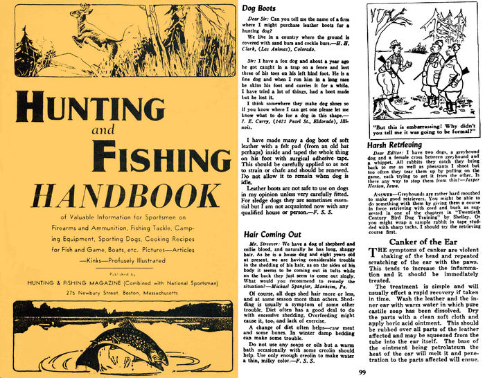 Hunting and Fishing Handbook 1944 National Sportsman, Inc