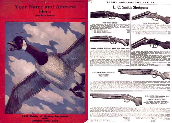 Hunting and Fishing Magazine; Sample Store Catalog 1929