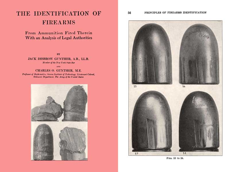 Identification of Firearms 1935 by Gunther (Forensic Lab)