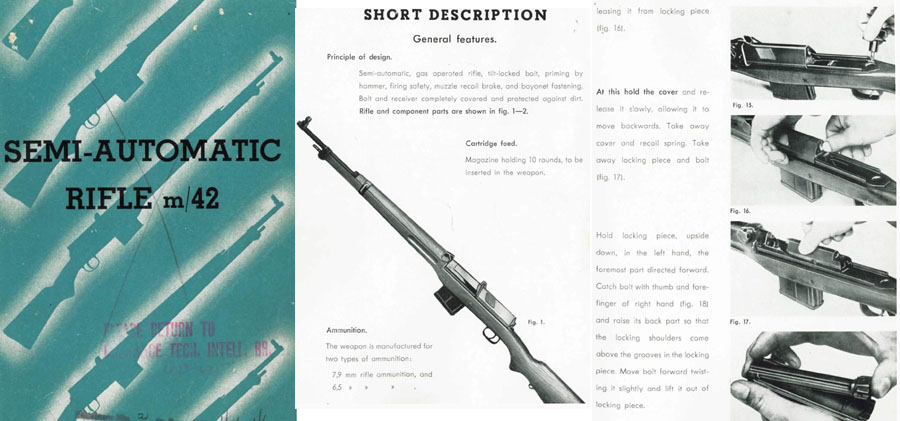 IGAB Ljungman c1960 Ag M42 Semi-Automatic Rifle Manual