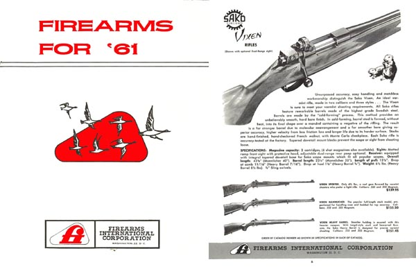 Interarms 1961 Gun Catalog