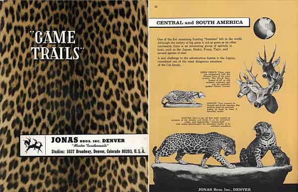 Game Trails 1964 Taxidermy Catalog