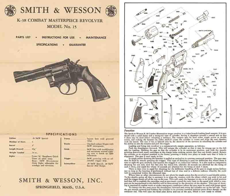Smith & Wesson K-38 Manual