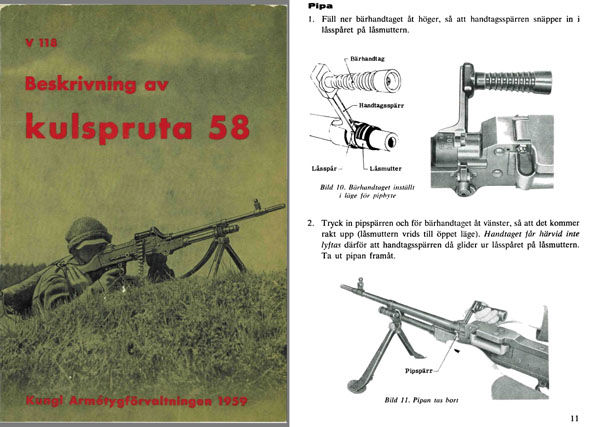 Kulspruta 1959 FN-MAG58 (Swedish) Machine Gun Manual