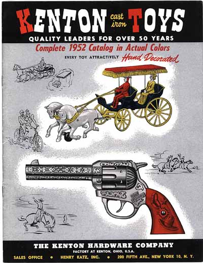 Kenton Toys and Cap Guns 1952 Catalog