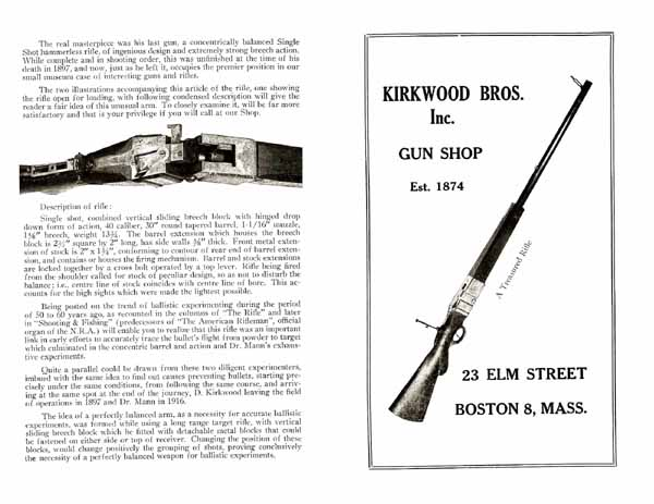 Kirkwood Bros. Gun Shop c1920 Catalog