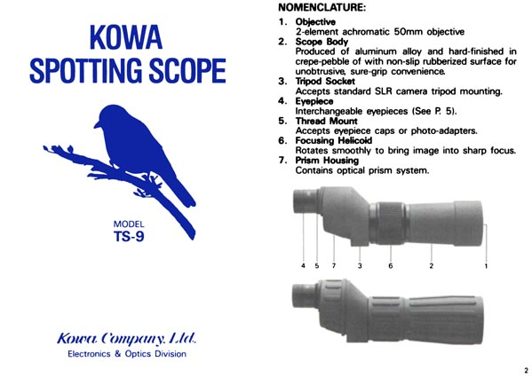 Kowa Spotting Scope TS-9 Manual