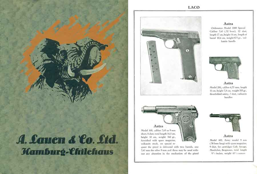 Lauen, A. & Co. Ltd. 1927 Catalogue LACO, Hamburg- English Text