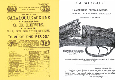 GE Lewis 1888 Catalogue of Guns