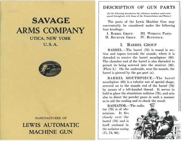 Lewis M1916 Automatic Machine Gun- Savage Amrs Co