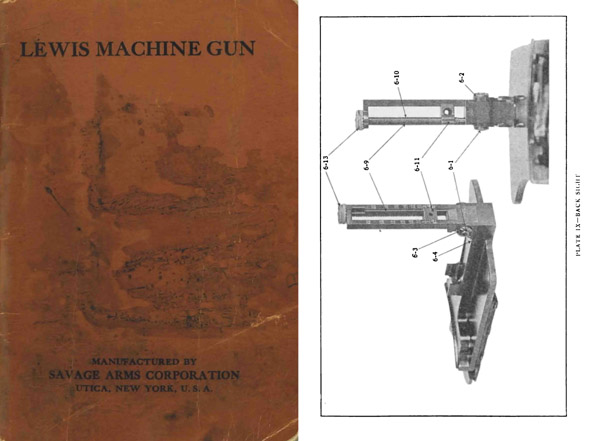 Lewis Machine Gun .30 cal 1917 Hand-Book of the, Savage Arms Co.