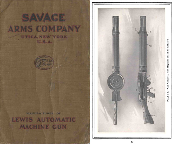 Lewis M1916 Automatic Machine Gun- Savage Arms Co- Manual